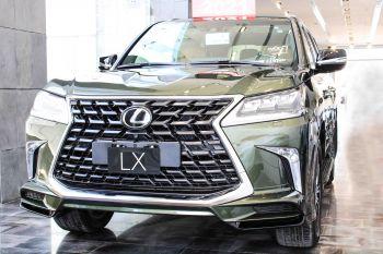 عروض رمضان  لكزس LX 570-SS Sport فل 2021 دبل سعودي جديد لون زيتي
